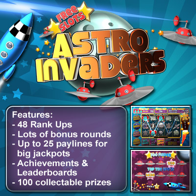 Free slots Astro Invaders - for ipad, iphone, android.