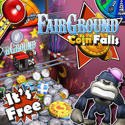 Fairground Coin Falls - for ipad, iphone, android.