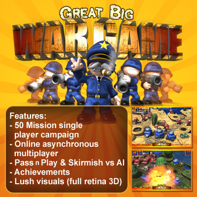 Great Big War Game - for ipad, iphone, android, PC, Mac, Blackberry playbook