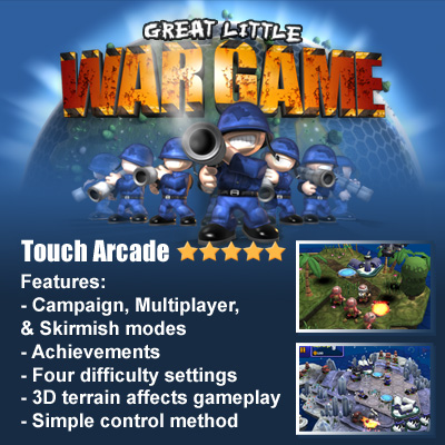 Great Little War Game - game app for ipad, iphone, android, PC