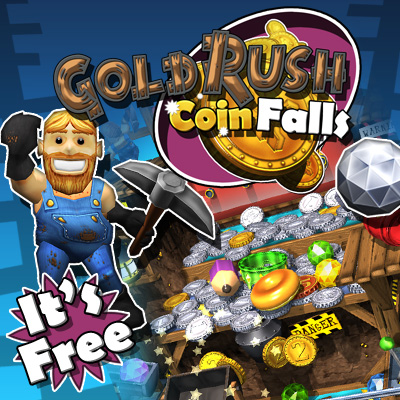 Gold Rush Coin Falls - for ipad, iphone, android.